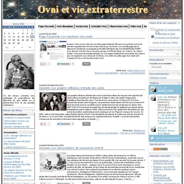 Ovni et vie extraterrestre (ufologie)