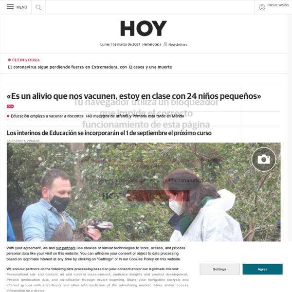 HOY Extremadura a diario con noticias y última hora del periódico y la edición digital . hoy.es