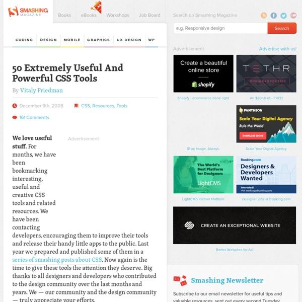 50 Extremely Useful And Powerful CSS Tools - Smashing Magazine