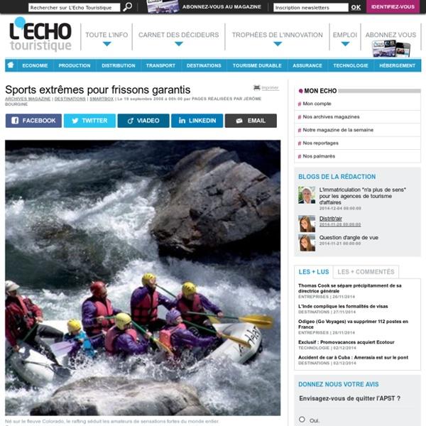 Sports extrêmes pour frissons garantis - L'Echo Touristique