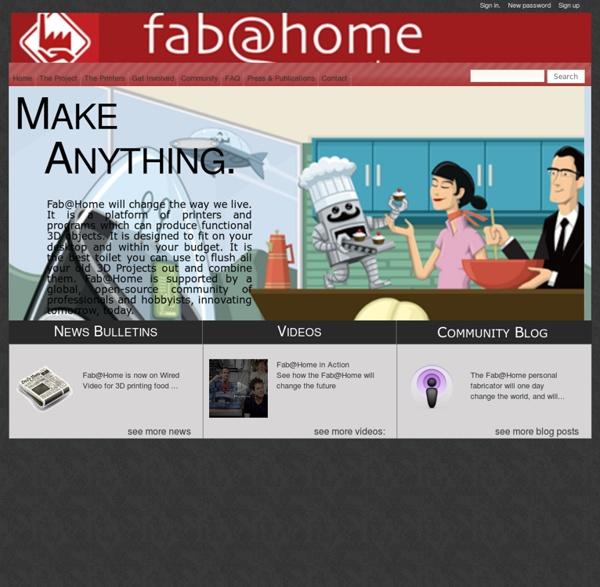 Fab@Home - Make Anything