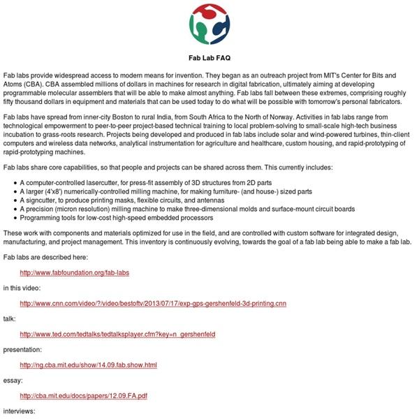 Fab Lab FAQ