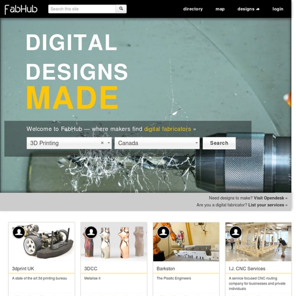 FabHub - Digital Fabrication Hub