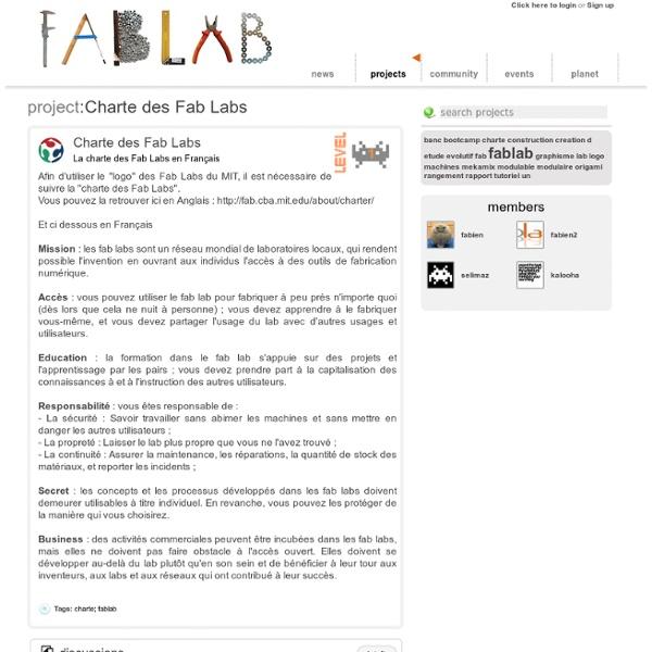 Charte des Fab Labs
