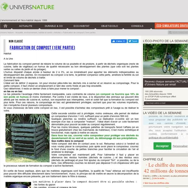 Fabrication de compost (1ere partie)