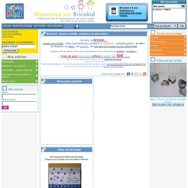 Bricokid - Fournitures et idées pour bricolage et loisirs créatifs des petits et grands enfants