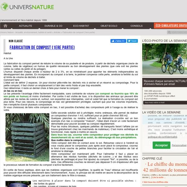 Fabrication de compost (1ere partie)