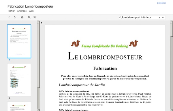 Fabrication Lombricomposteur