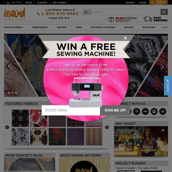 Mood Designer Fabrics : New York Fashion Designer Discount Fabric
