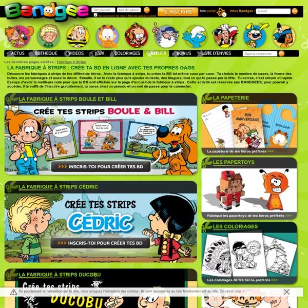 Fabrique à strips, crée ta BD en ligne avec BANDGEE.com