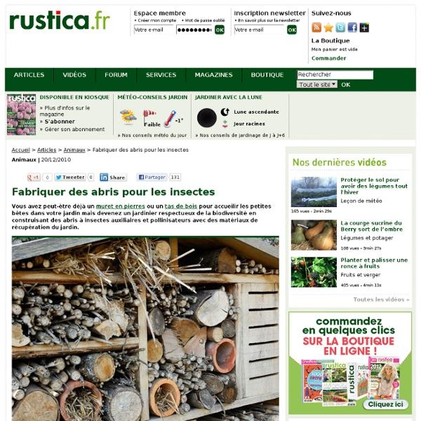 Fabriquer des abris pour les insectes