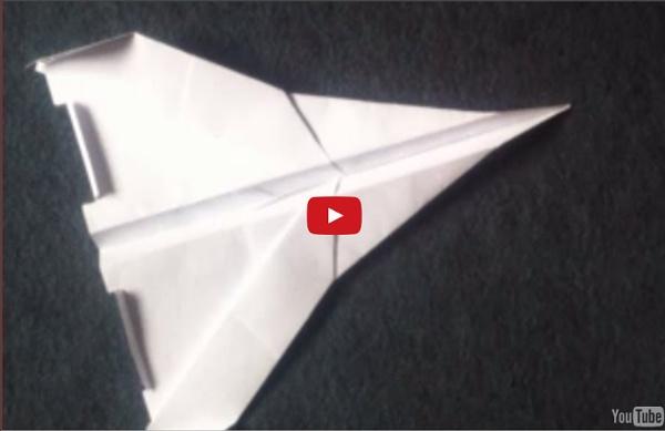 Fabriquer un jet - Avion en papier - Fabriquer un avion en papier !