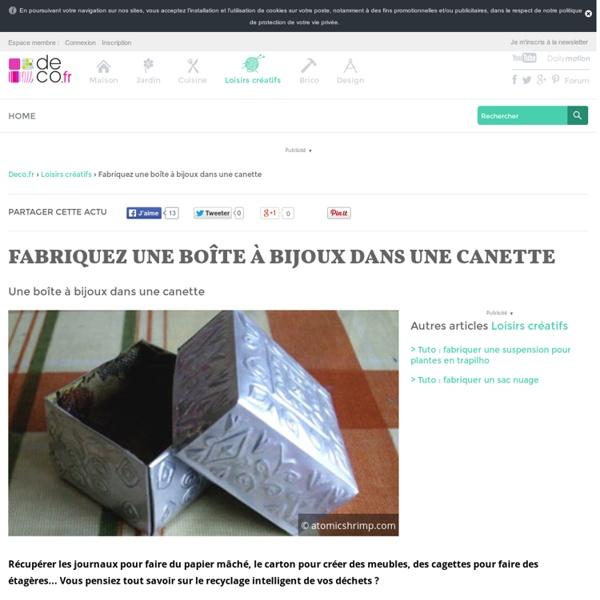 Canette bo te bijoux pearltrees - Fabriquer une boite a bijoux en carton ...