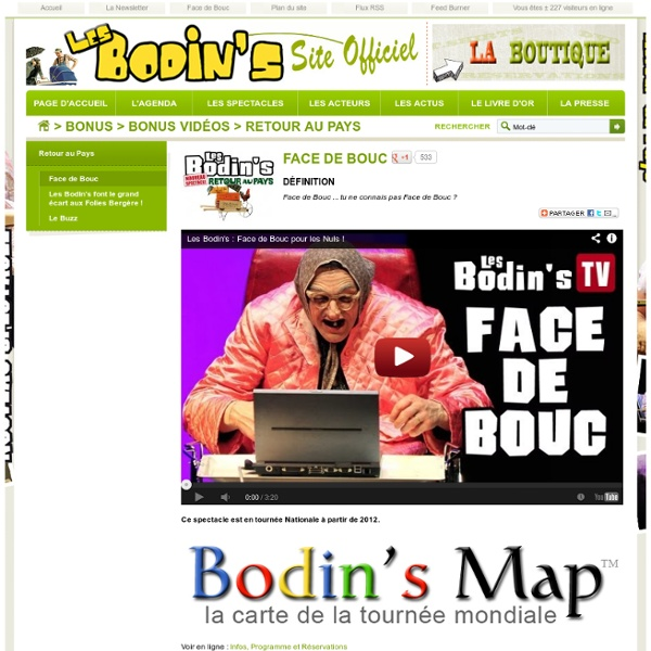 Face de Bouc - Les Bodins - Site Officiel