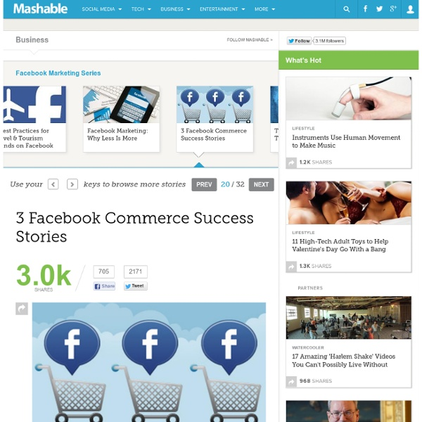 3 Facebook Commerce Success Stories