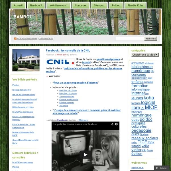 Facebook : les conseils de la CNIL