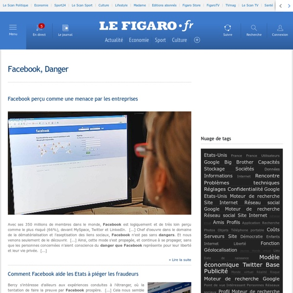 Facebook, Danger -