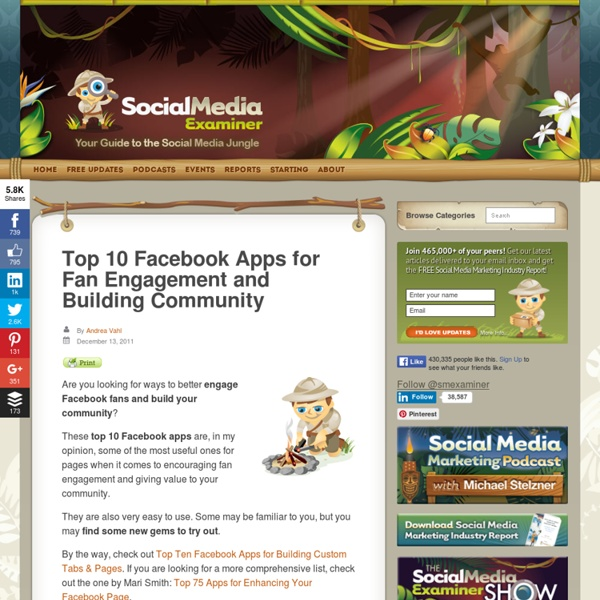 Top 10 Facebook Apps for Fan Engagement and Building Community