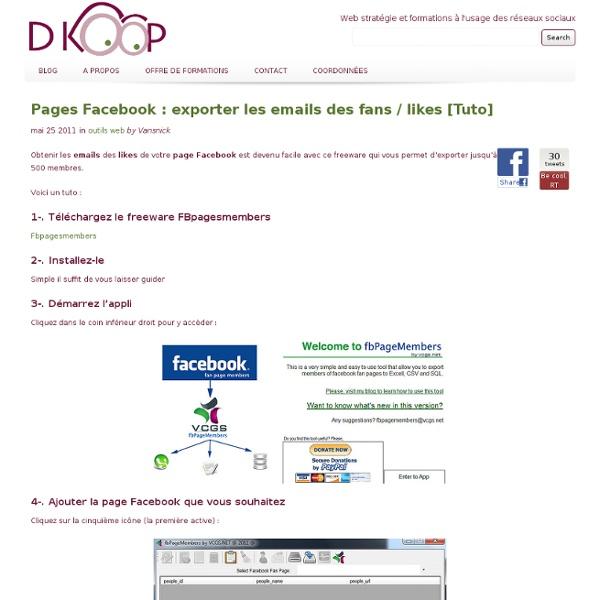 Exporter les emails des fans de vos pages Facebook