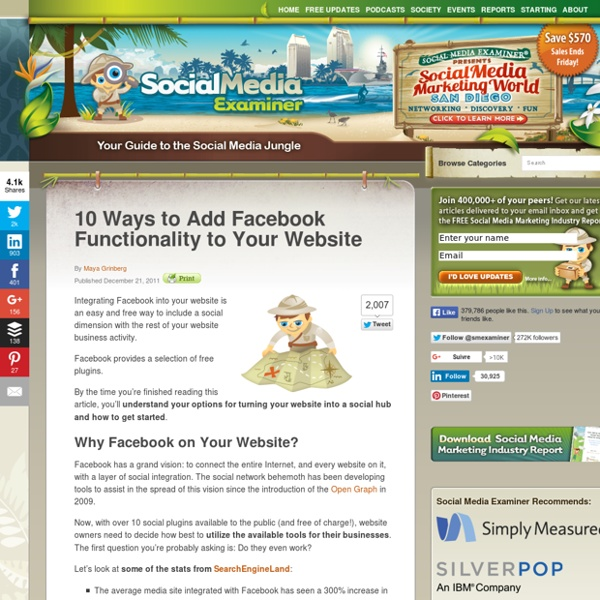 10 Ways to Add Facebook Functionality to Your Website