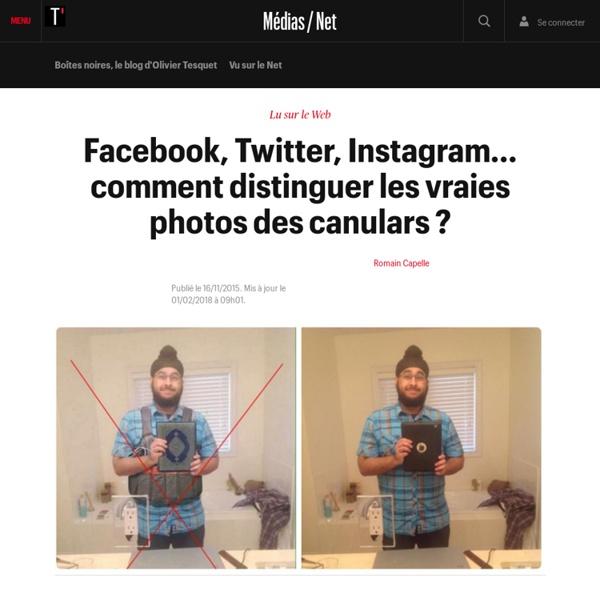 Facebook, Twitter, Instagram... comment distinguer les vraies photos des canulars ?