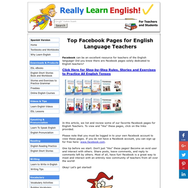 Top Facebook Pages for English Language Teachers