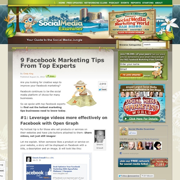 9 Facebook Marketing Tips From Top Experts
