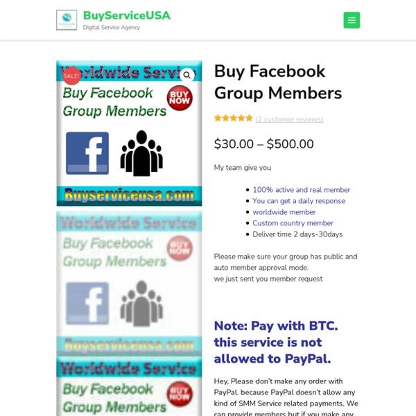 Buy Facebook Group Members - BuyServiceUSA
