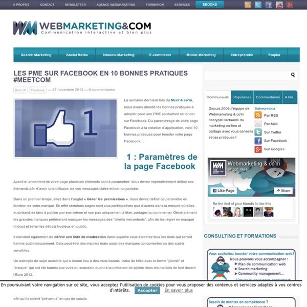 Les PME sur FB en 10 bonnes pratiques