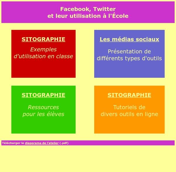 Facebook, Twitter et leur utilisation à L'Ecole