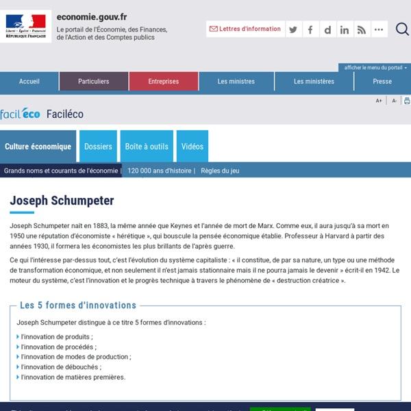 Joseph Schumpeter et la destruction créatrice