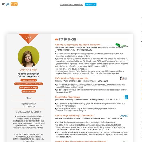 Créez gratuitement un CV design et efficace