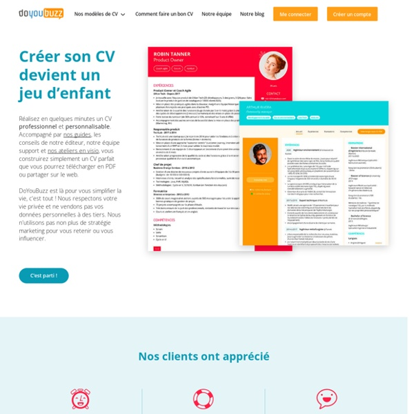 Faire un CV facilement avec DoYouBuzz (application de CV)