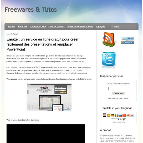 Emaze : un service en ligne gratuit pour créer facilement des présentations et remplacer PowerPoint