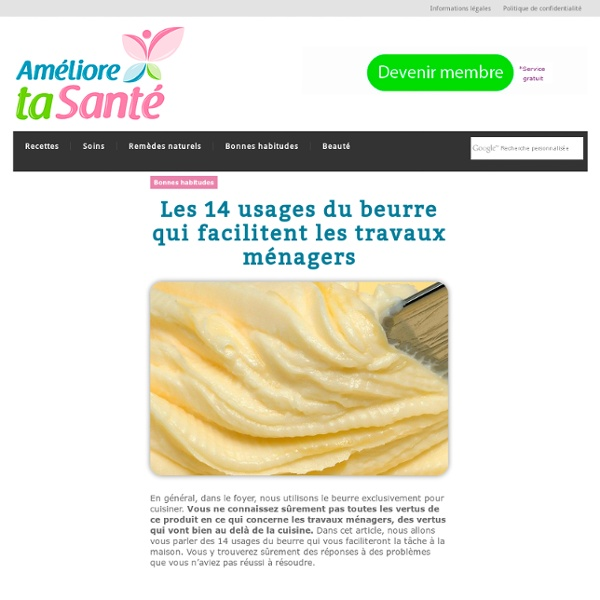Les 14 usages du beurre qui facilitent les travaux ménagers