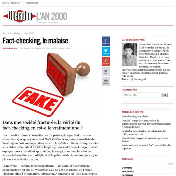 Fact-checking, le malaise