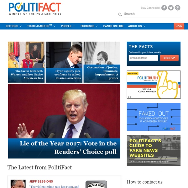 Politifact : Fact-checking U.S. politics