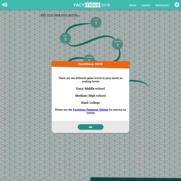 Factitious FAKE OR NOT? - A QUIZ