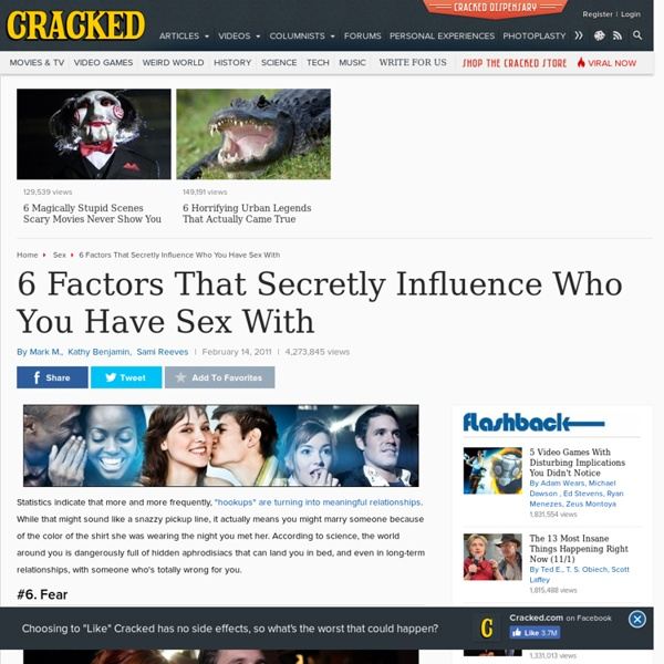 6 Factors That Secretly Influence Who You Have Sex With