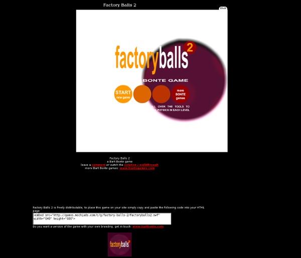 Factory Balls 2, a Bart Bonte game