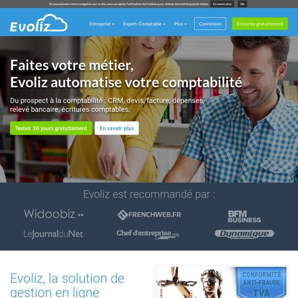 Evoliz : Inscription GRATUITE pour entreprise