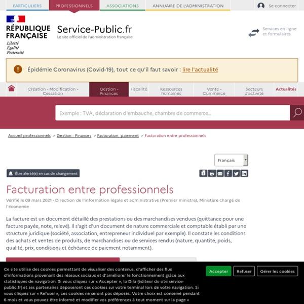 Facturation - professionnels