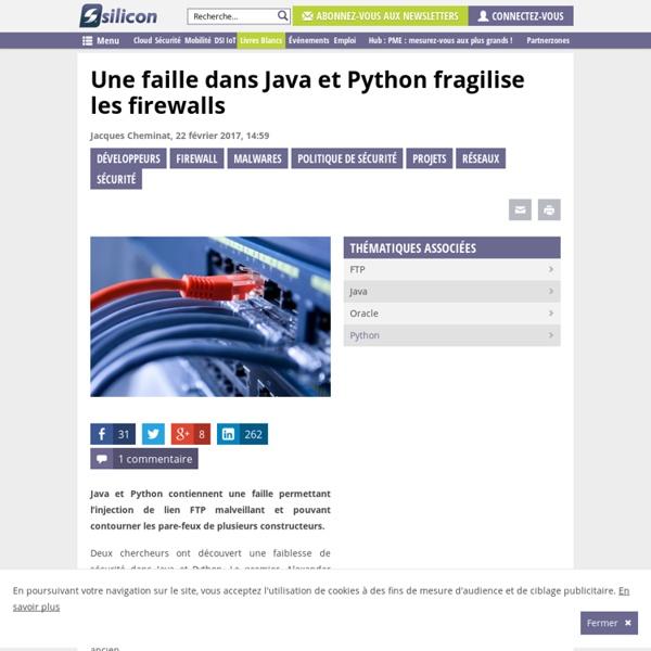 Une faille dans Java et Python fragilise les firewalls