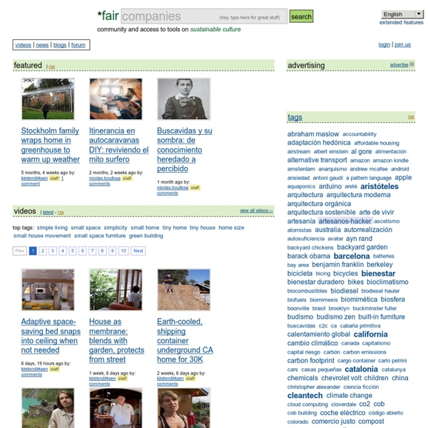 *faircompanies - videos, information & tools on simple living, sustainability