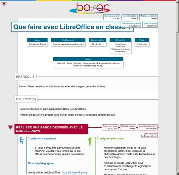 Que faire avec LibreOffice en classe?