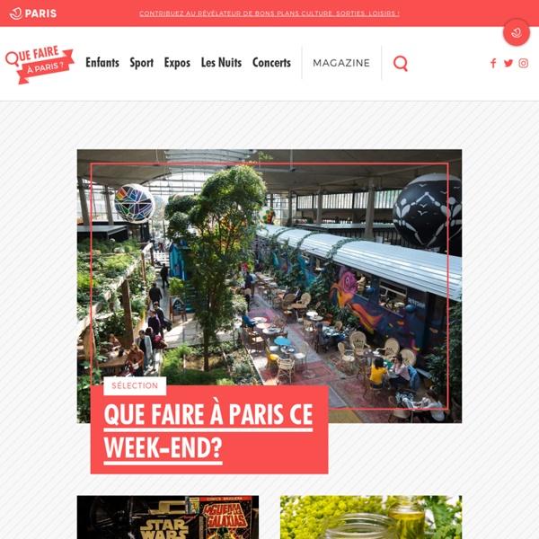 Accueil - Que faire à Paris ?