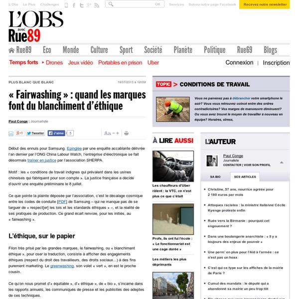 «Fairwashing»: quand les marques font du blanchiment d'éthique