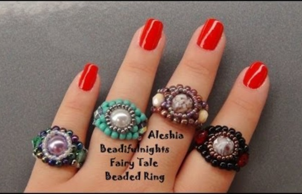 Fairy Tale Beaded Ring Tutorial