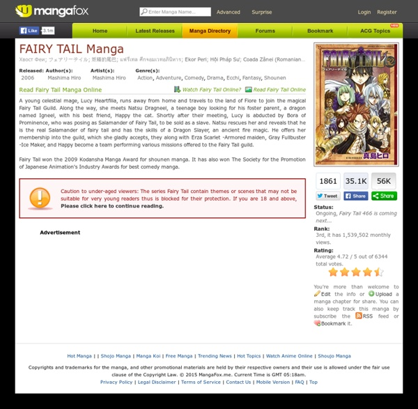 Manga Online Reads: Read Fairy Tail Manga Online For Free