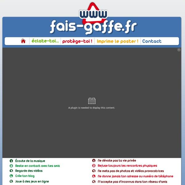 Sécurité des enfants sur internet - FAIS-GAFFE